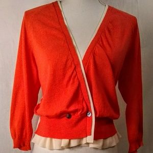Cotton and chiffon women's cardigan